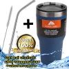 (ฟรีหลอด+แปรงขัด) แก้วเก็บร้อนเย็น ozarktrail ของแท้ 100% คุณภาพเหมือน yeti ขนาด 30 Oz. สีกรม