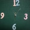 ชุดตัวเครื่องนาฬิกาญื่ปุนเดินเรียบ เข็มลายโมเดิน ขนาดกลาง เข็มสั้น-เข็มยาวสีเทา เข็มวินาทีสีทอง อุปกรณ์ DIY