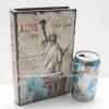 กล่องเก็บของทรงหนังสือแนววินเทจ ขนาดเล็ก S ลาย Love My New York และ เทพีเสรีภาพ