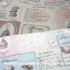 ผ้า Canvas พิมพ์ลาย สำหรับทำงานฝีมือ หรือบุชิ้นงาน - ลาย คัพเค้ก Cup Cake