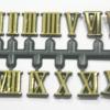 ชุดตัวเลขสำหรับประกอบนาฬิกา เลขโรมัน สีทองขอบดำ ตัวเลขสูง 10มม. อุปกรณ์ DIY