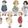 กระดาษเดคูพาจพิมพ์ลาย สำหรับทำงาน เดคูพาจ Decoupage งานฝีมือ งาน Handmade แนวภาพ vintage เด็ก เ็ด็ก เด็ก มาทั้งผู้หญิงผู้ชาย แก้มยุ้ยๆน่ารักน่าหยิกทั้งนั้น มาในชุดสวยนวาน ^^ สไตล์วินเทจ pladao design