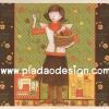 กระดาษสาพิมพ์ลาย สำหรับทำงาน เดคูพาจ Decoupage แนวภาำพ การ์ตูน นางฟ้าน้อย ช่างฝีมือสาวนักประดิษฐ์ประดอย นักเย็บปักถักร้อย (ปลาดาวดีไซน์)