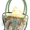 กระเป๋าถือเล็กผักตบชวาลายเปียทรงคางหมู ลายท่านลอร์ดกับมาดาม
