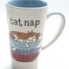 แก้วกาแฟทรงสูง ลาย Cat nap เจ้าแมวนอนหวด Whittard of Chelsea