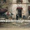 กระดาษสาพิมพ์ลาย สำหรับทำงาน เดคูพาจ Decoupage แนวภาำพ ภาพวาด Restaurant Cafe ร้านอาหาร ร้านกาแฟ สไตล์ยุโรป มีโต๊ะรับรองหน้าร้าน สวยคลาสสิค ภาพสีซอฟต์ๆ (ปลาดาวดีไซน์)