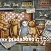 กระดาษอาร์ทพิมพ์ลาย สำหรับทำงาน เดคูพาจ Decoupage แนวภาพ หมี เท็ดดี้แบร์ Teddy bear กับเพื่อนตุ๊กตา (pladao design)