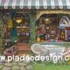 กระดาษสาพิมพ์ลาย สำหรับทำงาน เดคูพาจ Decoupage แนวภาำพ ร้านขายของเล่น แบบเก่าๆหายากๆ Antique ด้านหน้าร้านมีโต๊ะรับรองลูกค้า (ปลาดาวดีไซน์)