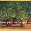 กระดาษสาพิมพ์ลาย สำหรับทำงาน เดคูพาจ Decoupage แนวภาำพ ภาพวาด กระถางต้นไม้ใบเขียว สำหรับประดับสวนให้ดูเขียวขจี นักอนุรักษ์ป่าไม้อย่าพลาด (ปลาดาวดีไซน์)