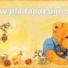 กระดาษสาพิมพ์ลาย สำหรับทำงาน เดคูพาจ Decoupage แนวภาพ หมี Teddy หมีหนุ่ม กับลูกเจี๊ยบ ไข่อีสเตอร์ บนพื้นครีม