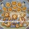กระดาษเดคูพาจพิมพ์ลาย สำหรับทำงาน เดคูพาจ Decoupage งานฝีมือ งาน Handmade แนวภาพ หมี เท็ดดี้ แบร์ Teddy bear ทุ่งดอกทานตะวัน (pladao design)