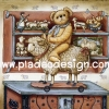 กระดาษอาร์ทพิมพ์ลาย สำหรับทำงาน เดคูพาจ Decoupage แนวภาพ หมี เท็ดดี้ Teddy Bear ขี่แกะ by Pladao Design