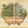 กระดาษสาพิมพ์ลาย สำหรับทำงาน เดคูพาจ Decoupage แนวภาำพ ภาพวาด ปลูกไม้ใบไม้ประดับ 6 ชนิด ในตระกร้าไม้ มีดอกลาเวนเดอร์ lavender เป็น 1 ในนั้น (ปลาดาวดีไซน์)