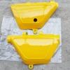 ฝากระเป๋า TS100 TS125 สีเหลือง เทียม งานใหม่