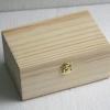 """ชิ้นงานดิบไม้สน ทำ Decoupage งานเพนท์ กล่องไม้สนแบบมีล็อค ทรงผืนผ้า ไซด์เล็ก 4""""x6""""x2.5"""""""