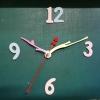 ชุดตัวเครื่องนาฬิกาญื่ปุนเดินเรียบ เข็มลายโมเดิน ขนาดกลาง เข็มสั้นสีชมพู-เข็มยาวสีเหลือง เข็มวินาทีสีแดง อุปกรณ์ DIY