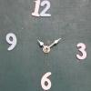 ชุดตัวเครื่องนาฬิกาญื่ปุนเดินเรียบ เข็มลายโมเดิน ขนาดเล็ก เข็มสั้น-เข็มยาวสีขาว เข็มวินาทีสีทอง อุปกรณ์ DIY