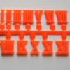 ชุดตัวเลขสำหรับประกอบนาฬิกา ตัวเลขโรมัน สีส้ม ตัวเลขสูง 10มม. อุปกรณ์ DIY
