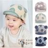 BB025 หมวกแก็ปเด็ก ลายวงกลม น่ารัก ประดับด้วยหูเล็กๆ ส่วนตรงปีกหมวกมีลวดอ่อนๆ สามารถปรับได้ ใส่ได้ทั้งเด็กผู้หญิง และเด็กผู้ชาย