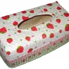 กล่องทิชชูใบลานแบบกล่อง ลายสตอร์เบอรี่หวานแหวว