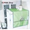 GK298 ผ้าคลุมตู้เย็น วัสดุทำจากพลาสติก เนื้อผ้ากันน้ำ เช็ดทำความสะอาดได้ มีช่องใสของทั้งสองด้าน ซ้าย และ ขวา ขนาด ยาว 130 x กว้าง 55 cm.
