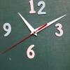 ชุดตัวเครื่องนาฬิกาญื่ปุนเดินเรียบ เข็มลายโมเดิน ขนาดยาว เข็มสั้น-เข็มยาวสีขาว เข็มวินาทีสีแดง อุปกรณ์ DIY