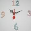 ชุดตัวเครื่องนาฬิกาญื่ปุนเดินเรียบ เข็มลายโมเดิน ขนาดเล็ก เข็มสั้น-เข็มยาวสีดำ เข็มวินาทีพลาสติกสีแดง อุปกรณ์ DIY