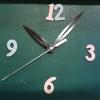 ชุดตัวเครื่องนาฬิกาญื่ปุนเดินเรียบ เข็มลายโมเดิน ขนาดยาว เข็มสั้น-เข็มยาวสีดำ เข็มวินาทีสีเงิน อุปกรณ์ DIY