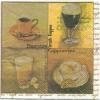 แนวภาพอาหาร ชากาแฟ บนพื้นสีคลาสสิค เป็นกระดาษ 4 บล๊อค กระดาษแนพคินสำหรับทำงาน เดคูพาจ Decoupage Paper Napkins เป็นภาพ 4 บล๊อค ขนาด 25X25 ซม