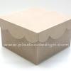 ชิ้นงานดิบไม้ MDF ทำ Decoupage งานเพนท์ กล่องไม้จตุรัส ฝาครอบทรงหยัก ใช้ได้ทั้งแนพคิน กระดาษอาร์ต กระดาษสา