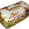 กล่องทิชชูใบลานแบบกล่อง ลายหุ่นไล่กาในไร่ฟักทอง