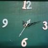 ชุดตัวเครื่องนาฬิกาญื่ปุนเดินเรียบ เข็มลายโมเดิน ขนาดเล็ก เข็มสั้น-เข็มยาวสีดำ เข็มสีขาว อุปกรณ์ DIY