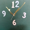 ชุดตัวเครื่องนาฬิกาญื่ปุนเดินเรียบ เข็มลายโมเดินท์กิ่งไม้ ขนาดกลาง เข็มสั้น-เข็มยาวสีเหลืองทอง เข็มวินาทีสีเงิน อุปกรณ์ DIY