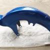 บังโคลนหน้า FR80 สีน้ำเงิน เทียม งานใหม่