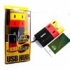 ปลั๊กไฟแบบช่อง USB มี HUB 4 Port สีสันสดใส ยี่ห้อ Remax