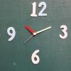 ชุดตัวเครื่องนาฬิกาญื่ปุนเดินเรียบ เข็มลายโมเดิน ขนาดเล็ก เข็มสั้นสีแดง-เข็มยาวสีเหลือง เข็มวินาทีสีแดง อุปกรณ์ DIY