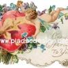 กระดาษเดคูพาจพิมพ์ลาย สำหรับทำงาน เดคูพาจ Decoupage งานฝีมือ งาน Handmade แนวภาพ Cupid's offering to you กามเทพน้อย บรรจงระบายสีแดงบนหัวใจที่ห่อเป็นของขวัญ และมัดร้อย2 ดวงใจเป็นหนึ่ง ปลาดาวดีไซน์