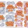กระดาษ 3D สร้างลายนูน หมีน้อย baby ชาย และ หญิง 2 ภาพ ขนาด A4