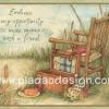 กระดาษอาร์ตพิมพ์ลาย สำหรับทำงาน เดคูพาจ Decoupage แนวภาำพ friendship เก้าอี้ไม้พร้อมอุปกรณ์ตกลปลาริมบึงตัวนี้ ยินดีต้อนรับเพื่อนๆทุกคน (ปลาดาวดีไซน์)