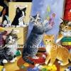 กระดาษสาพิมพ์ลาย rice paper เป็น กระดาษสา สำหรับทำงานศิลปะ เดคูพาจ Decoupage แนวภาพ น้องเหมียวๆ อนาคต แวนโกะห์ ศิลปินแห่งชาติแมวในคลาสศิลปะ (pladao design)