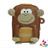 กระเป๋าเป้เด็ก NADO รูปลิง วัสดุเป็นหนัง PU เนื้อนิ่ม สีสันสดใส