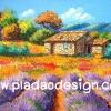 กระดาษสาพิมพ์ลาย สำหรับทำงาน เดคูพาจ Decoupage แนวภาำพ ภาพวาดฝั่งยุโรปสีสันสดใสมากๆ กระท่อมน้อยปลายสวน รายล้อมไปด้วยสวนดอกไม้ (ปลาดาวดีไซน์)