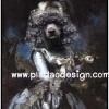 กระดาษเดคูพาจพิมพ์ลาย สำหรับทำงาน เดคูพาจ Decoupage งานฝีมือ งาน Handmade แนวภาพ น้องหมาพุดเดิ้ลน้อยกลอยใจในชุดราตรี ถือดอกกุหลาบ (ปลาดาว ดีไซน์)
