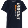 เสื้อยืดแฟชั่นผู้ชาย AEROPOSTALE 87 NY Vertical Logo Graphic T - DEEP NAVY
