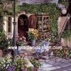 กระดาษเดคูพาจพิมพ์ลาย สำหรับทำงาน เดคูพาจ Decoupage งานฝีมือ งาน Handmade แนวภาพ ตกแต่งบ้านและสวน เบื้องหลังร้านขายดอกไม้ ย่อมมีดอกไม้งามแอบซ่อนอยู่ อิอิ ปลาดาว ดีไซน์