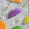 แนวภาพลายแต่ง ร่มหลากสี บนพื้นสีเทา ภาพลายกระจายเต็มแผ่น กระดาษแนพคินสำหรับทำงาน เดคูพาจ Decoupage Paper Napkins ขนาด 21X22cm