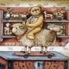 กระดาษสาพิมพ์ลาย Rice Paper สำหรับทำงานฝีมือ เดคูพาจ Decoupage แนวภาพ หมี เท็ดดี้ Teddy Bear ขี่แกะ by Pladao Design