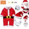 ชุดหมีซานต้า พร้อมหมวกและเครา น่ารักสไตล์เกาหลี