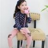 Huanzhu kids ชุดเซตเด็กหญิง 2 ชิ้น เสื้อสีน้ำเงินลายจุด+กางเกง ผ้าเนื้อดีน่ารักสไตล์เกาหลี