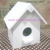 ชิ้นงานดิบ ไม้ MDF ทำสีขาวแล้ว ใช้ทำ Decoupage งานเพนท์ กล่องทิชชูบ้านนก แบบม้วน